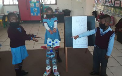 Upcycling Pick n Pay products: The Nageng I-robot!
